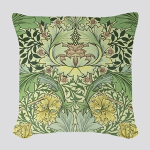 William Morris Floral Design Woven Throw Pillow